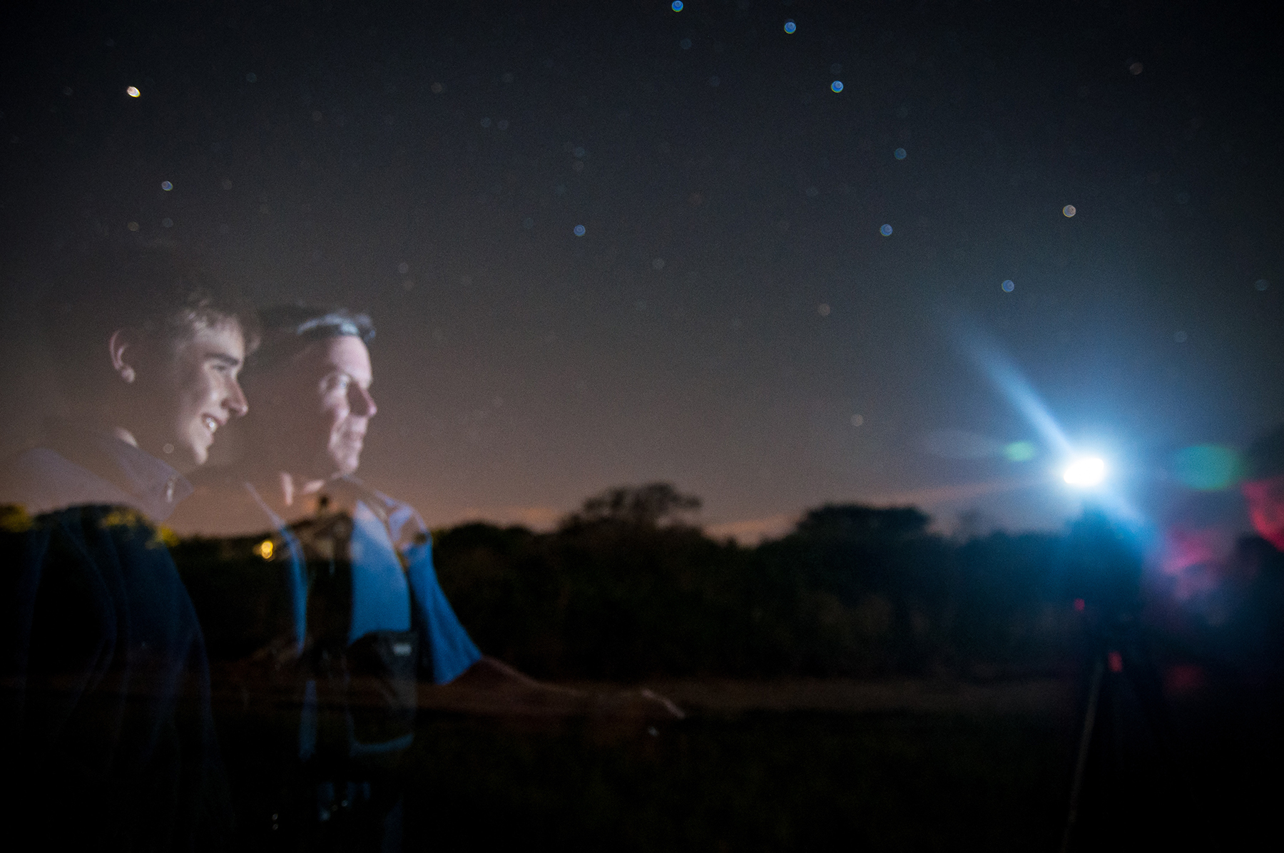 On a beautiful night in the summer of 2012, I took this self-portrait of Grandude and myself when he was teaching me how to photograph the stars. (Photos by Colin Boyle/Northwestern University)