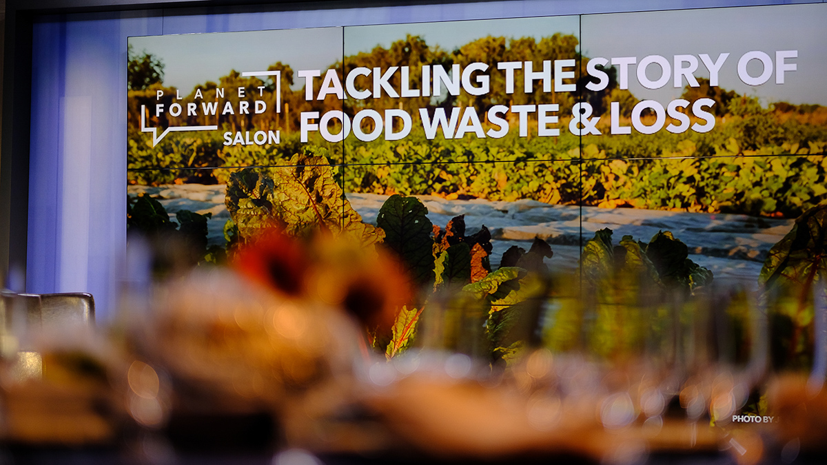 Planet Forward convened experts and students to discuss how we tackle the story of food waste and loss at our spring Salon, held Feb. 13, 2019. (Photos by Planet Forward staff)