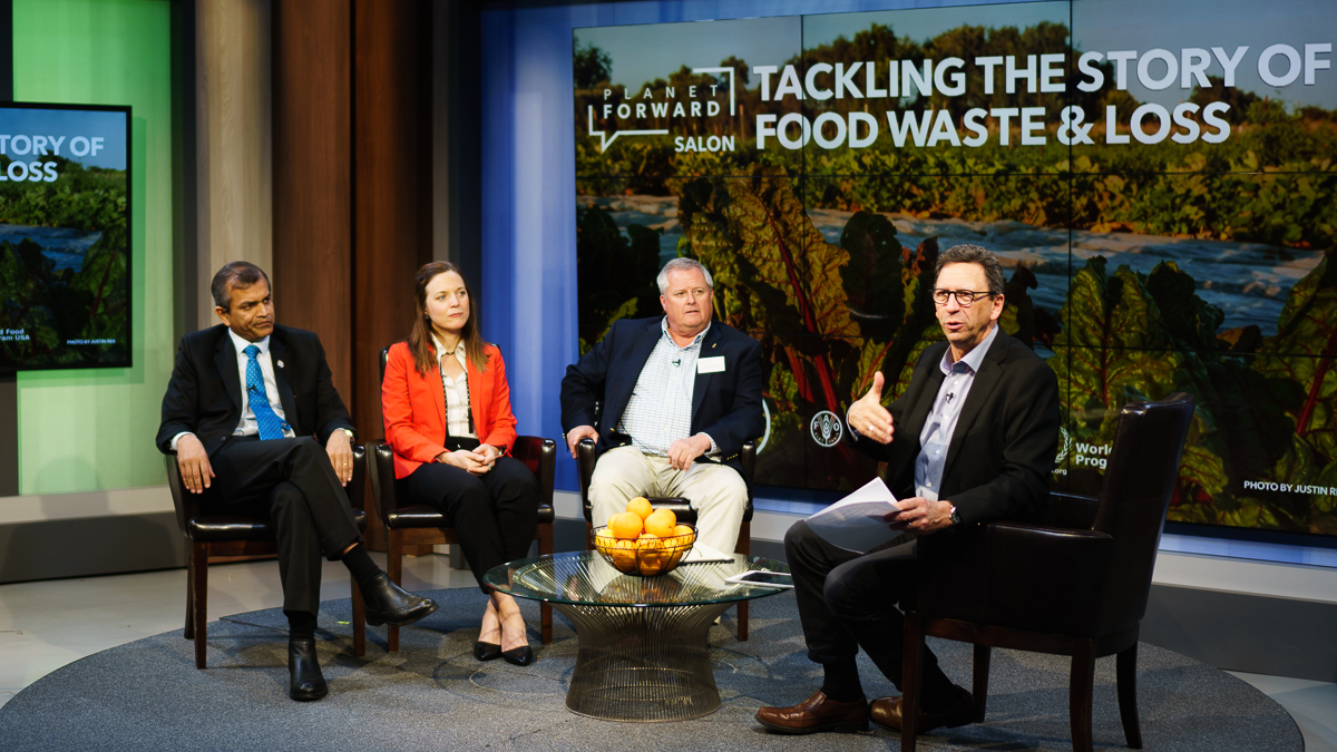 Sesno sums up the Salon with a question for each of the panelists: What should we as individuals do to address food waste and loss?