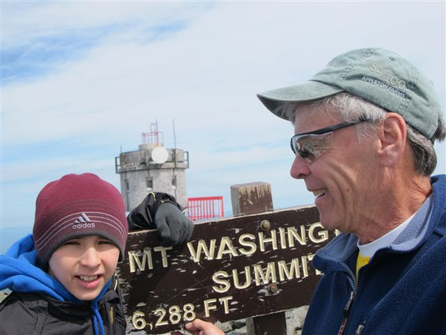 A self-portrait of my Grandude and me when he took me up to Mt. Washington in the summer of 2010.