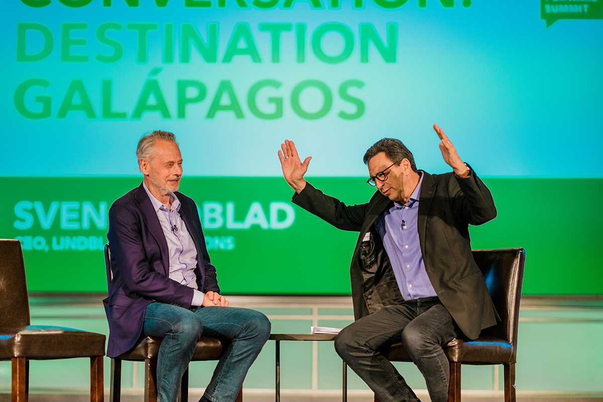 Lindblad Expeditions CEO Sven Lindblad talks about both the company's conservation initiatives, but also the importance of sharing the story of the Galápagos - so people know why it needs to be preserved.