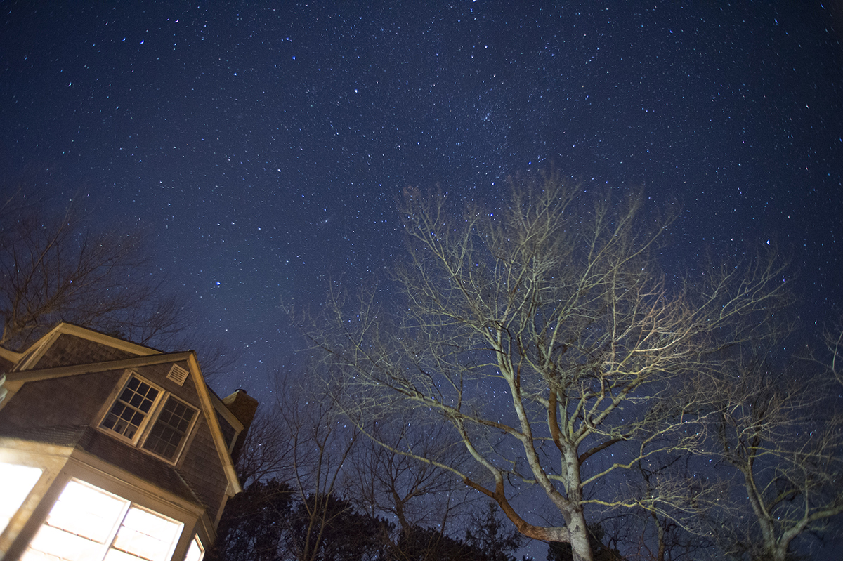 In the town where I learned how to photograph stars five years earlier, the heavens twinkle through a crisp November 2017 night in Chatham, Massachusetts.