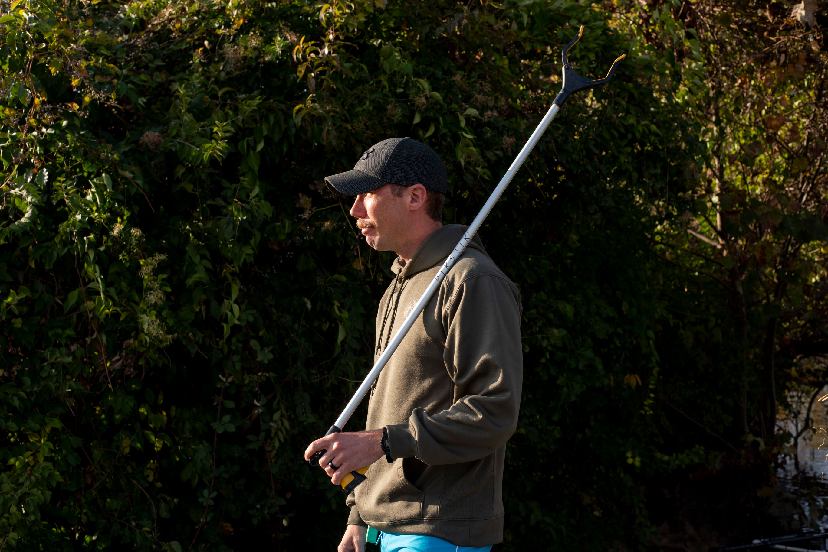 Joseph Wright poses for a portrait with his picker on November 5, 2019 in Alexandria, VA.