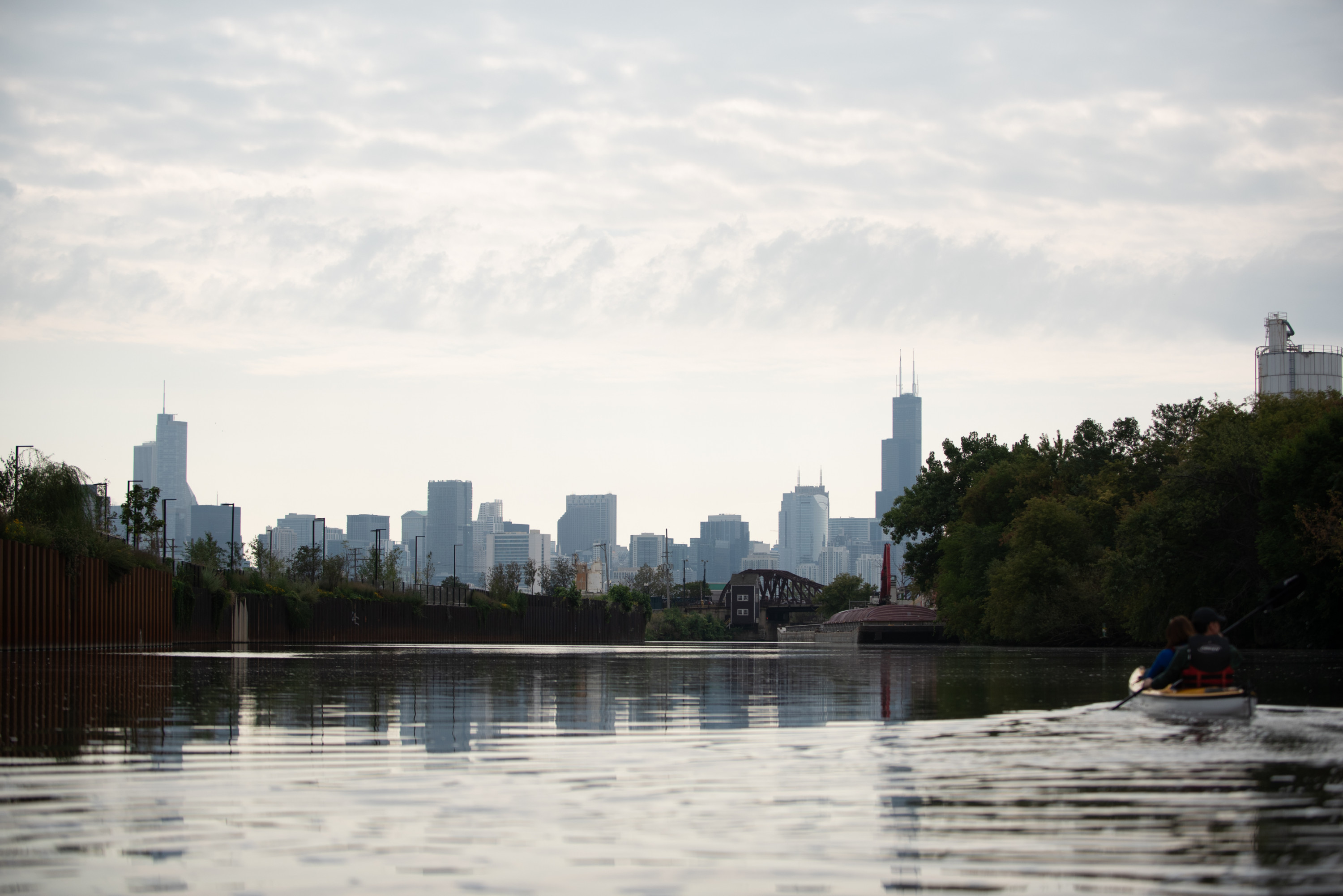 The Chicago River is experiencing an environmental renaissance — thanks to some friends and clean-up efforts. (Photos by Colin Boyle/Northwestern University)