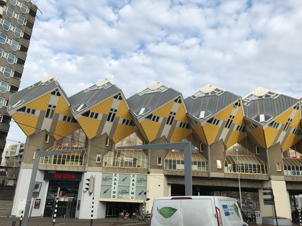 Kubuswoningen, or 'Cube Houses,' in Rotterdam