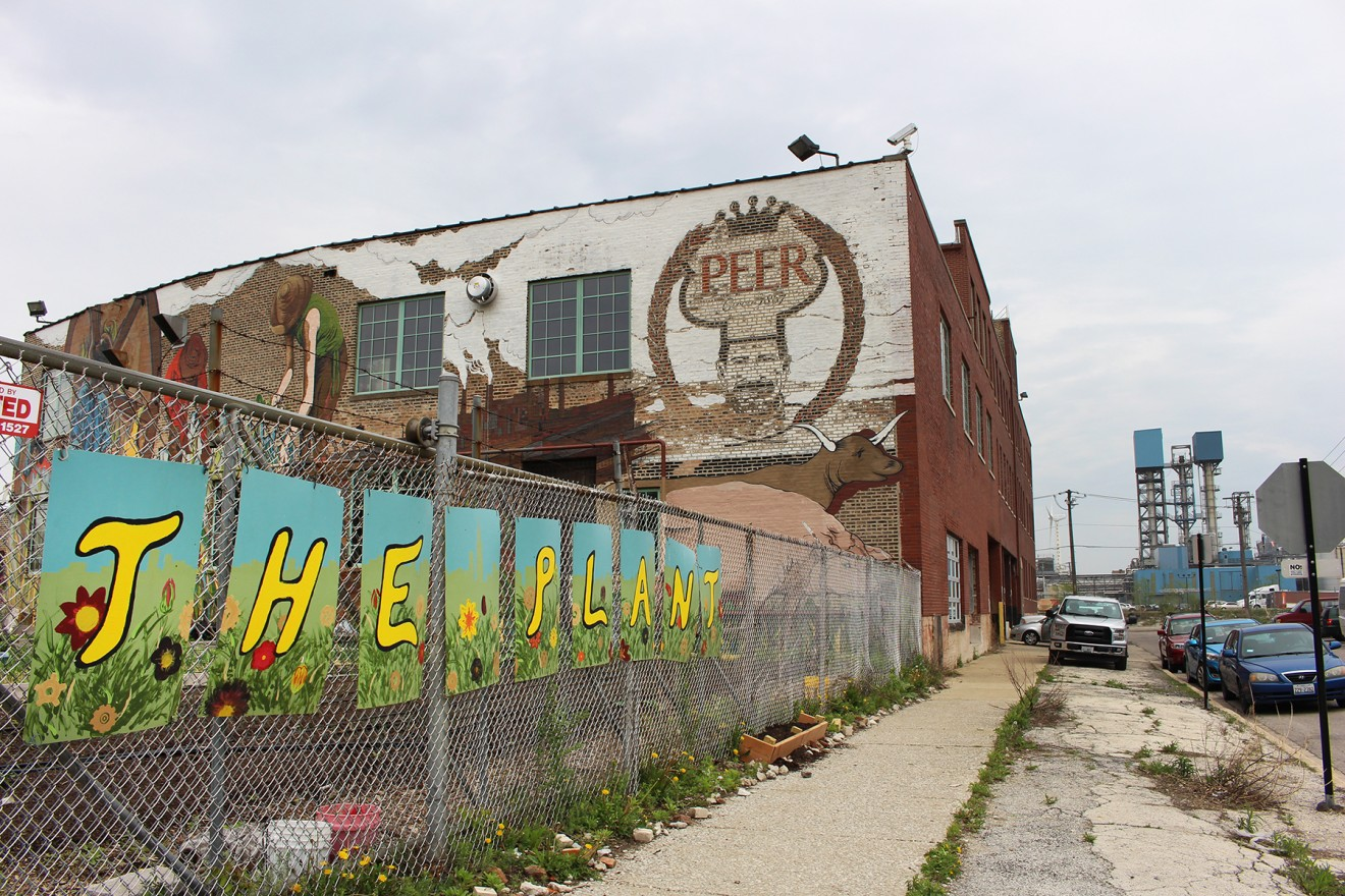 The Plant, on the South Side of Chicago, aims to bring sustainability to its neighboring communities through outreach programs. (Darby Hopper/Medill)