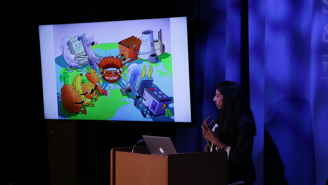 Aparna Sridhar of the Nature Conservancy uses creative visuals to tell the water story.