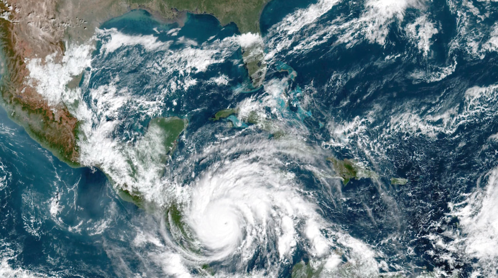 Climate change sustains more powerful hurricanes due to warming temperatures. (NASA Goddard Space Flight Center)