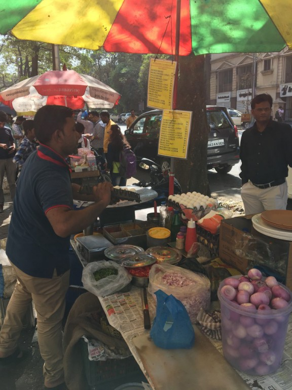 Street food vendor in Mumbai. (Tavish Fenbert)