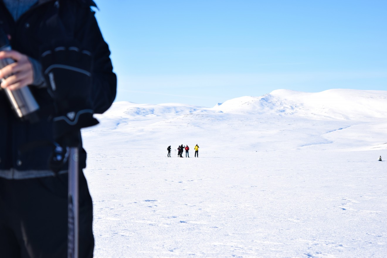 I went snowshoeing with my group in the northern mountains of Sweden. I gained a deeper insight into the Swedish landscape and how people interact with it.