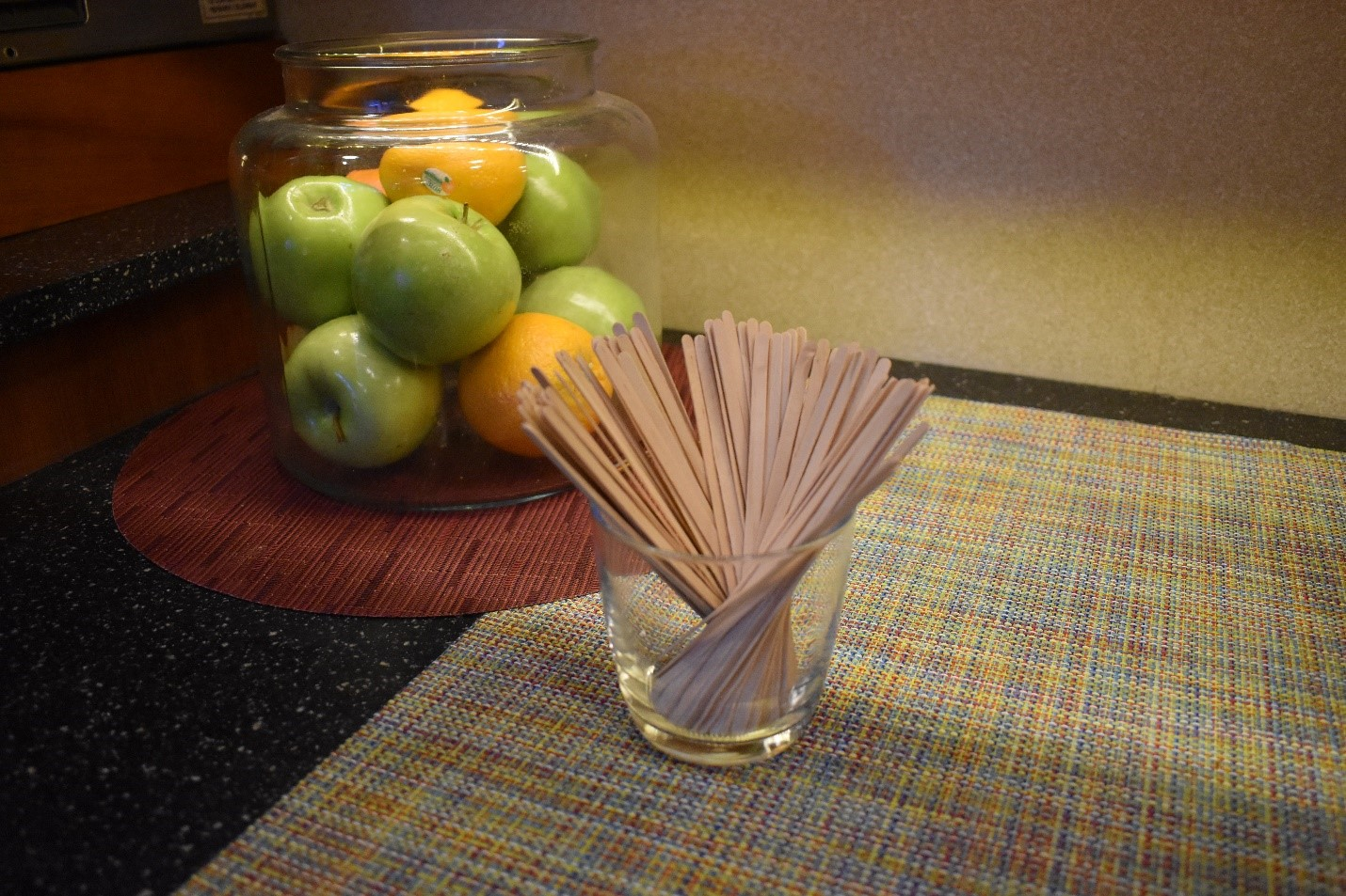 Lindblad Expeditions also uses wooden stirrers instead of plastic ones.