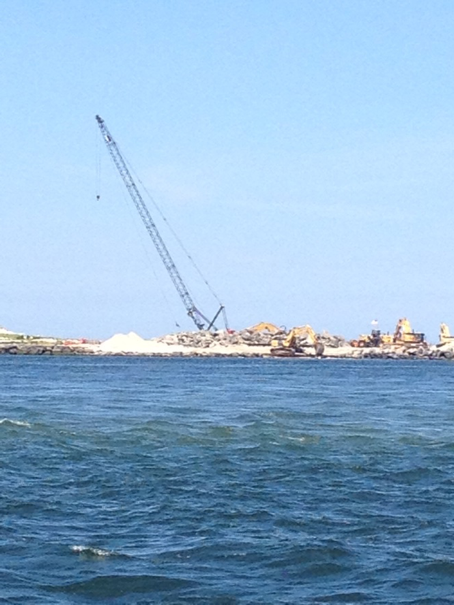 Some of the rebuilding along the coast of LBI.