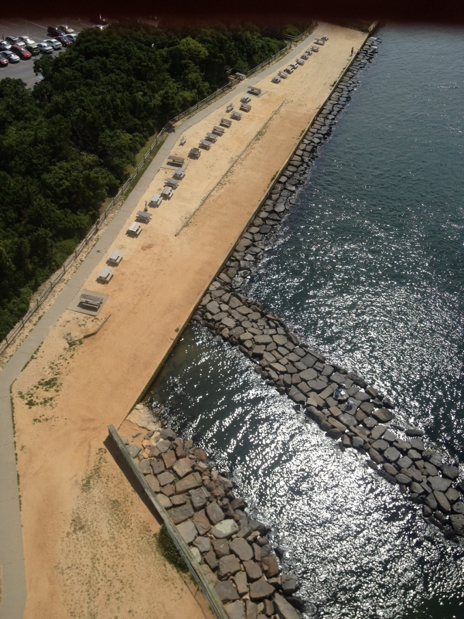 An aerial view of Barnegat Lighthouse State Park in 2013.