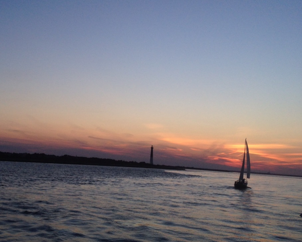 A silhouette of Long Beach Island from Barnegat Bay. (Photos by Ashley Gallagher)