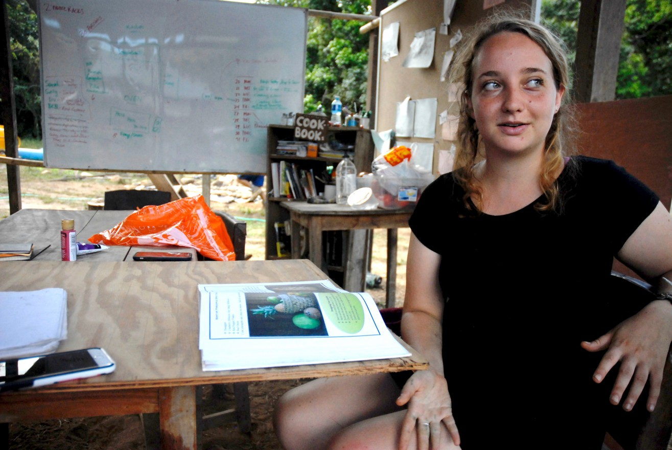 Sarah Diamond reflects on the healing indifference to body image at Kalu Yala where she attended culinary classes during her 10-week internship. (Photos by Hannah Curcio)