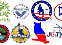 Political third-party logos