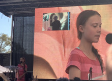 Greta Thunberg at the Climate Strike in New York