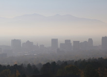 Salt Lake City smog and haze