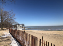 Lee Street Beach in Evanston, Illinois