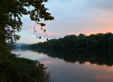 Potomac river at sunset.