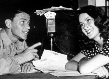 Frank Sinatra interviewed on the radio.