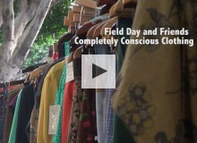 Boutique owner designs clothing with sustainable materials.