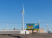 Wind turbines in Lubbock, Texas