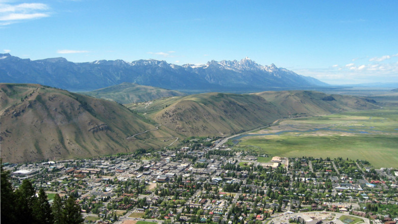 View of Jackson, Wyoming