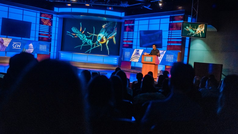 """National Geographic's Anand Varma captivated the audience with his storytelling and his astonishing presentation: """"Beauty and the Bizarre."""""""