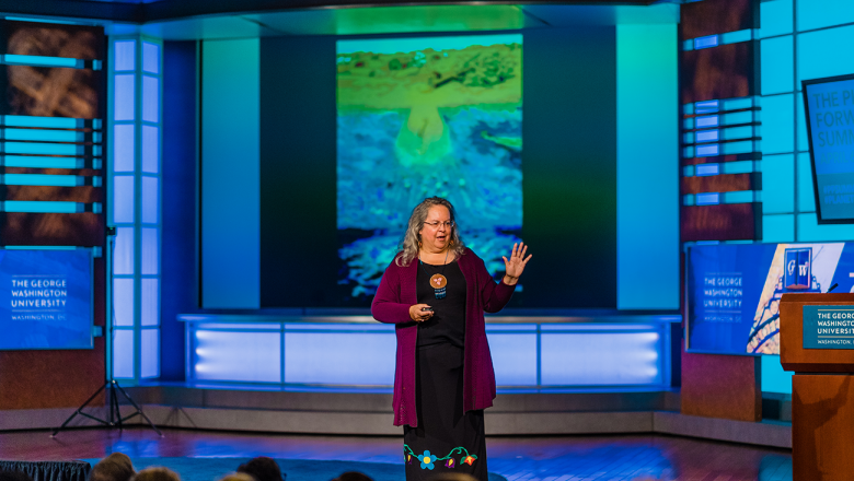 Robin Kimmerer, director of the Center for Native Peoples and the Environment, explains native storytelling traditions.