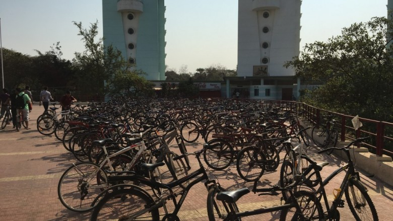 Bicycles on campus at IIT-Bombay. (Tavish Fenbert)
