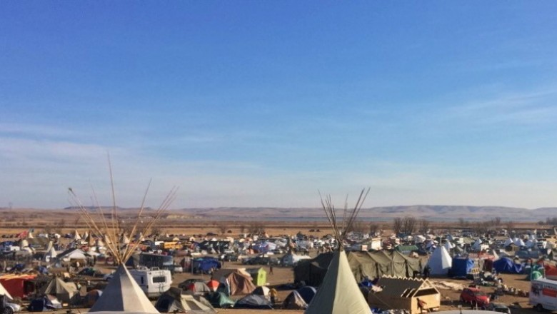 Standing Rock: In a way, the car check entrance was a foreshadow to the sobering reality that there have been people camped for months in peace yet brutalized by authority; there is a gorgeous life-giving water source that while unable to speak is being arduously spoken for.