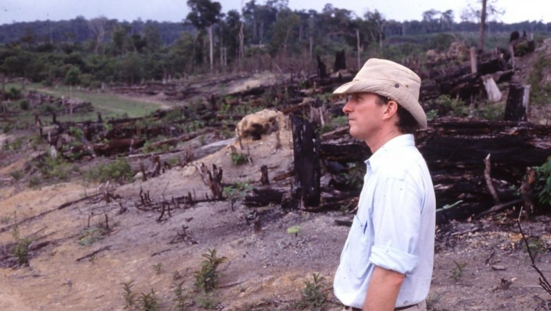 """Dr. Thomas Lovejoy, the """"godfather of biodiversity,"""" will be leading the Storyfest grand prize winners' storytelling expedition to the Brazilian rainforest. Lovejoy has been visiting and conducting research in the Amazon since the late 1970s. (Photo courtesy Dr. Thomas Lovejoy)"""