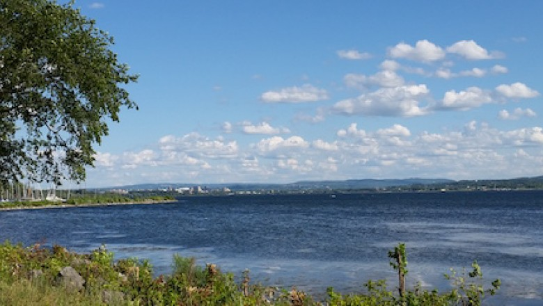 The northern two thirds of Onondaga Lake were deemed suitable for swimming in a 2015. (Madison Quinn/Save the Rain)