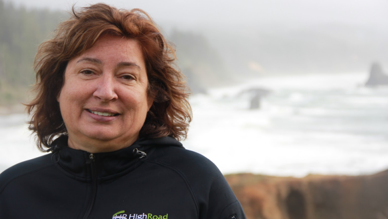 Leesa Cobb, director of the Port Orford Ocean Resources Team, works alongside the Port Orford CSF to ensure a healthy marine ecosystem for the community. (Jacob Lebel/Umpqua Community College)
