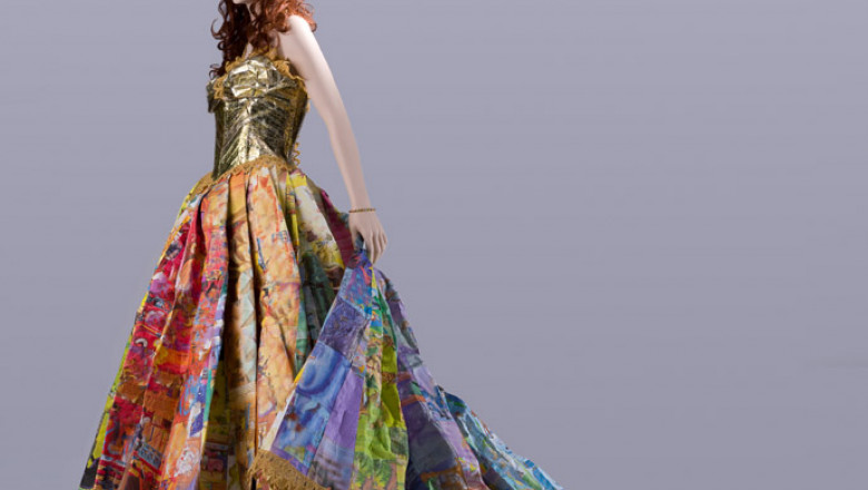 gown made out of children's books