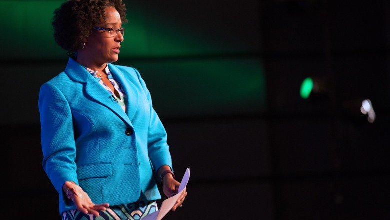 The President of the National League of Cities, Melodee Colbert-Kean, gave the first keynote.