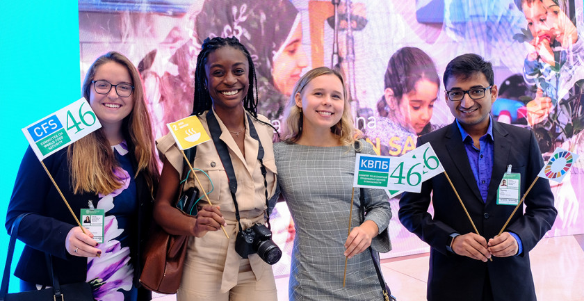 Students at 2019 World Food Day at the FAO in Rome