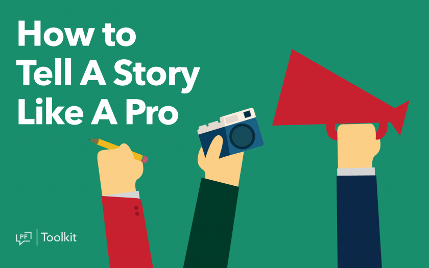 Learn how to tell a story in any media