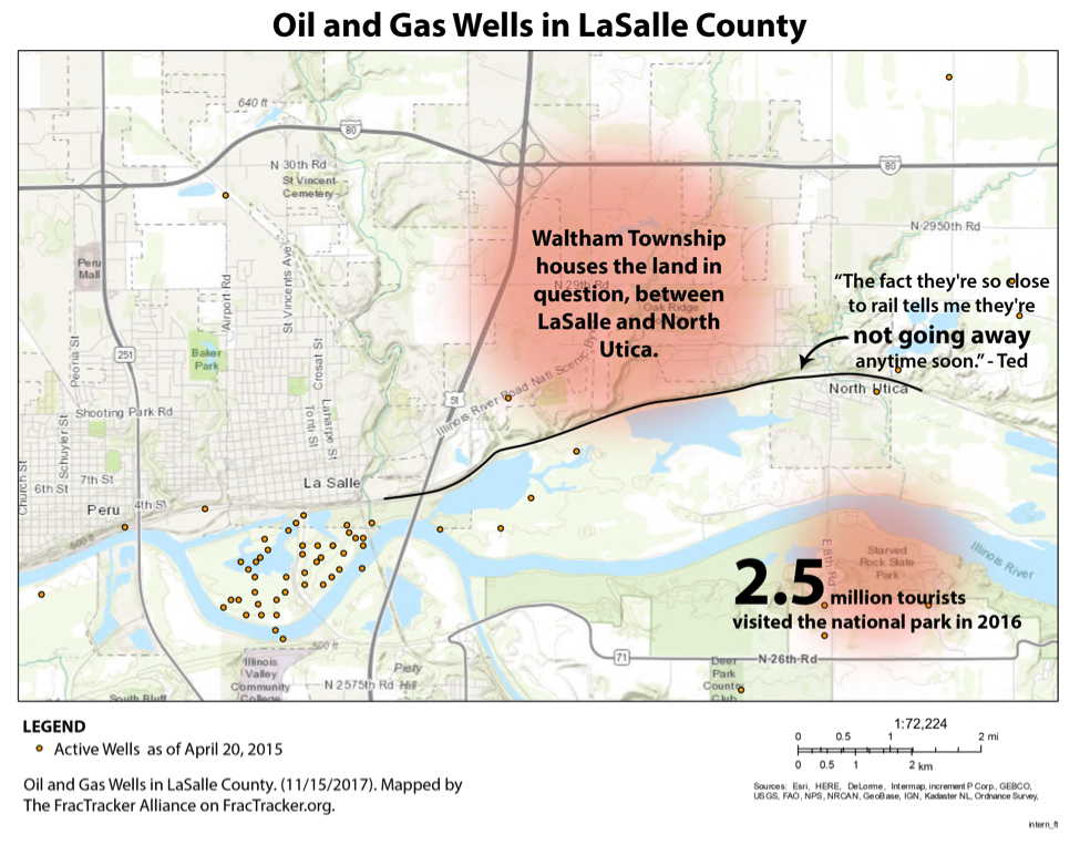 Oil and Gas Wells in LaSalle County