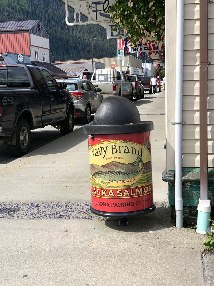 Alaska Salmon Trash Can