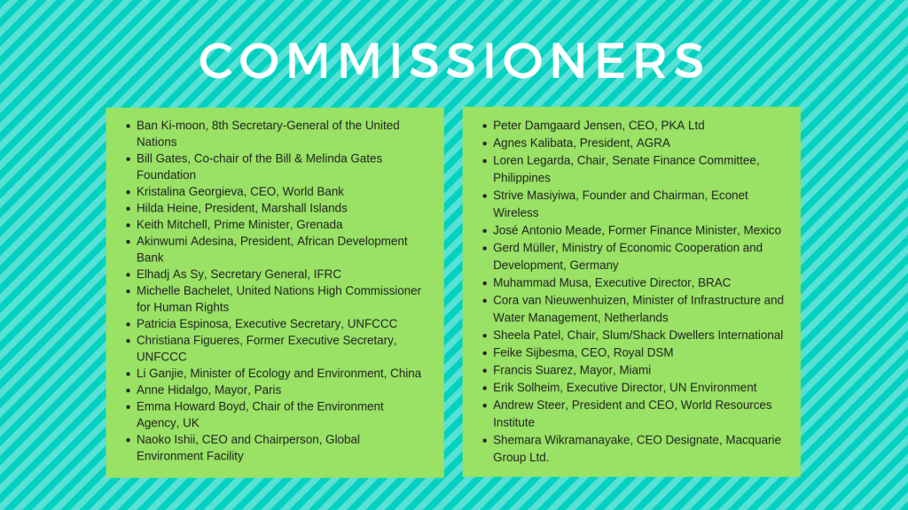 List of Commissioners graphic