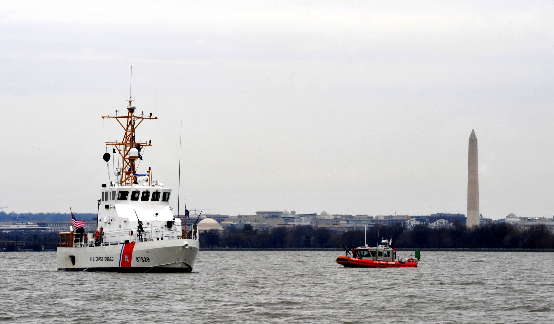 The U.S. Coast Guard patrols the Potomac.