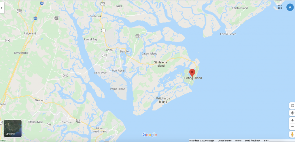 Screenshot of the Beaufort area on Google Maps