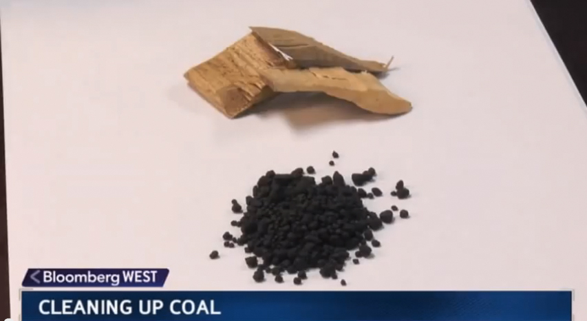 Cleaning up coal… with wood